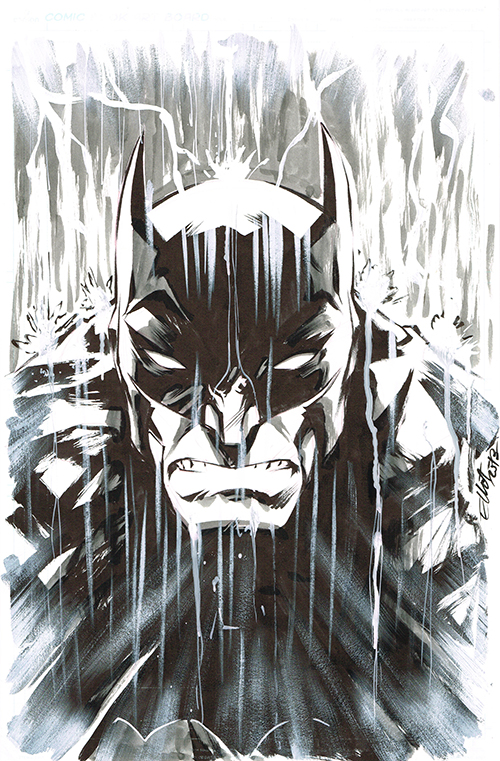 BATMAN in the RAIN by jerkmonger