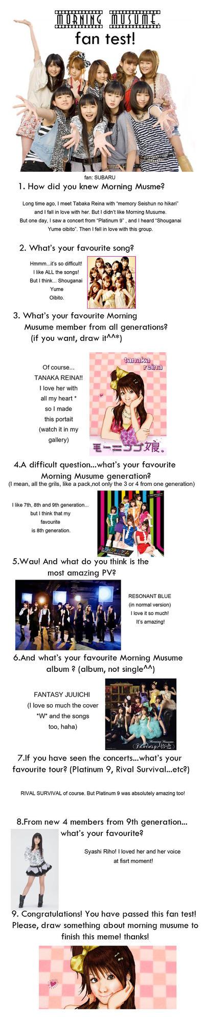 MORNING MUSUME: meme contest by SubaruMangaka