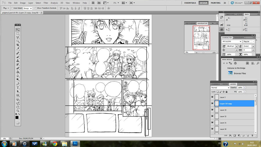 comic page in process by SubaruMangaka