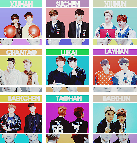 EXO Graphics. What's your favorite pairing? Part.4 by kamjong-kai