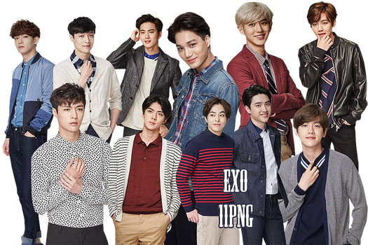 EXO PNG Pack {Lotte Duty Free 4}