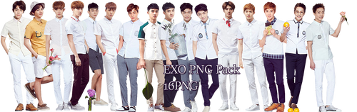 EXO PNG Pack {IVY CLUB 2016 Part.11} by kamjong-kai