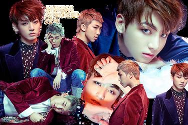 BTS Jungkook and Rap Monster PNG Pack {WINGS} by kamjong-kai