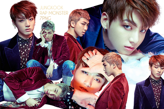 BTS Jungkook and Rap Monster PNG Pack {WINGS}