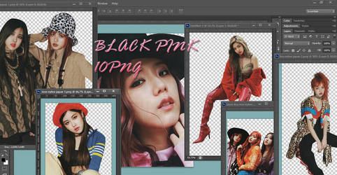 Black Pink PNG Pack {NYLON Japan}