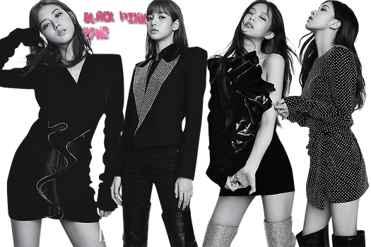 Black Pink PNG Pack {ELLE}