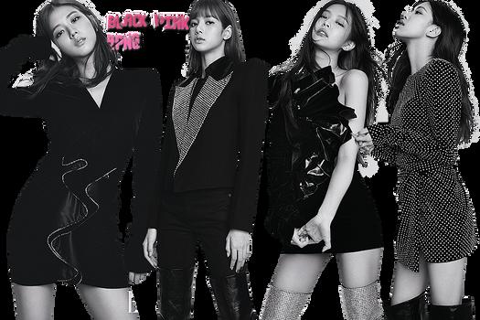 Black Pink PNG Pack {ELLE}