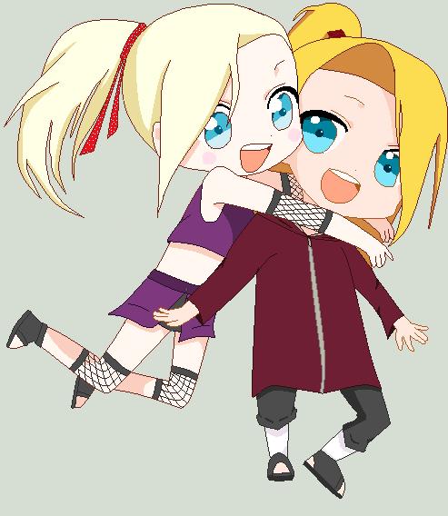 Deidara and Ino :D by DeiIno4ever2 on DeviantArt Gaara And Naruto Chibi