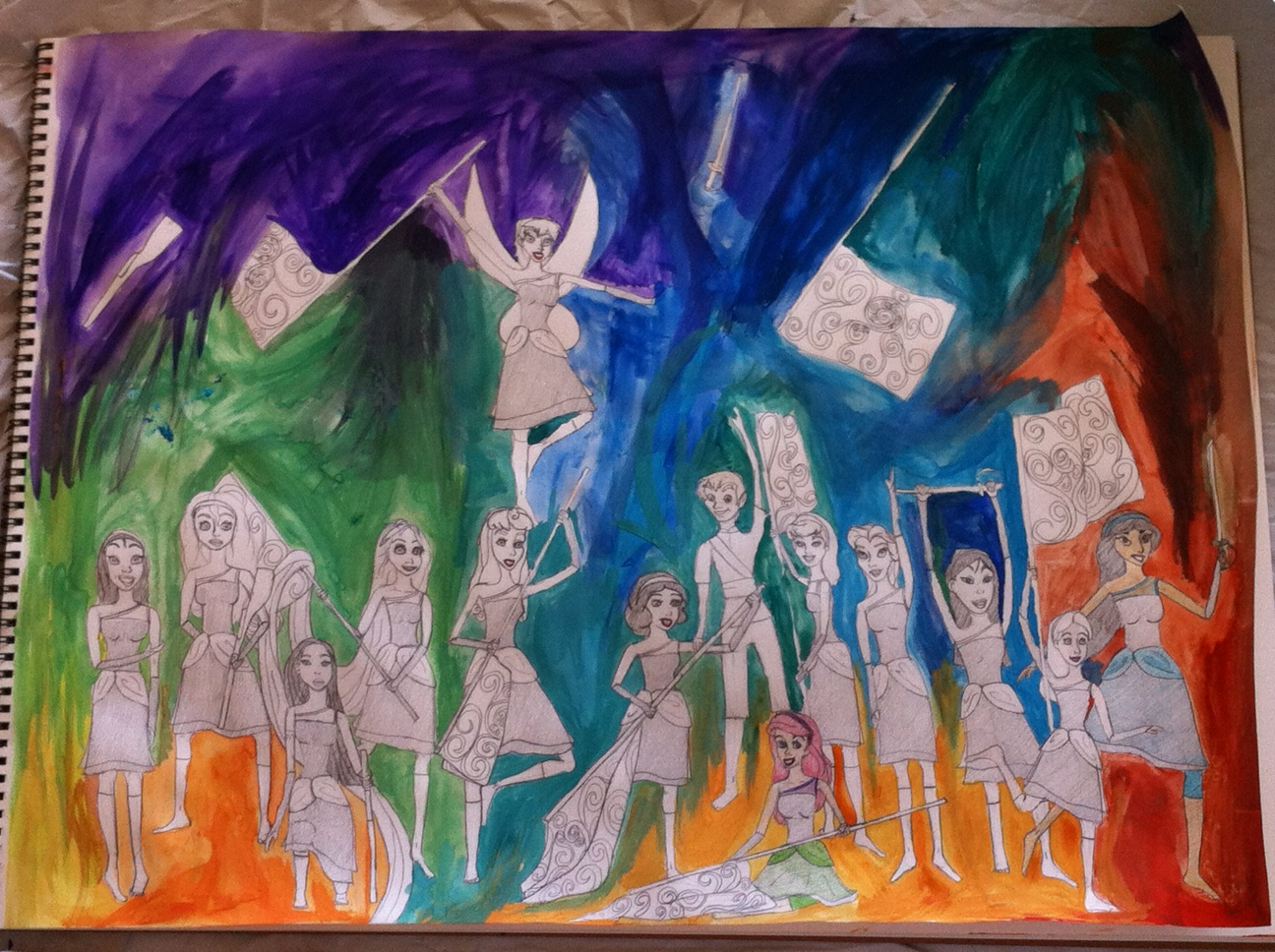 Disney Winter Guard Project Background By