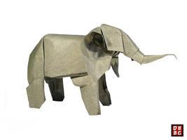 Origami Elephant by Origamikuenstler