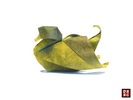 Origami Duck by Origamikuenstler