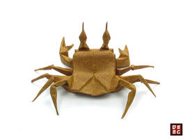 Origami Ghost Crab by Origamikuenstler