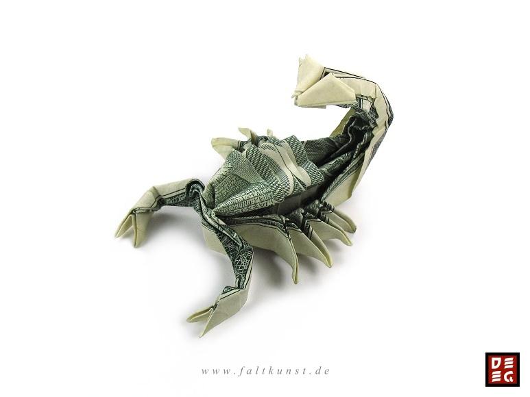 Dollar Bill Scorpion by Origamikuenstler