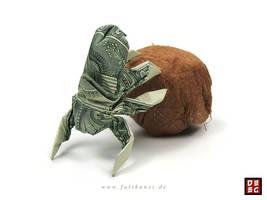 Dollar Bill Scarabaeus by Origamikuenstler