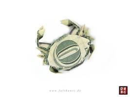 Dollar Bill Crab by Origamikuenstler