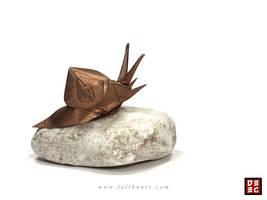 Origami Snail by Origamikuenstler