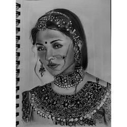 Aishwarya Rai by Ishnakala