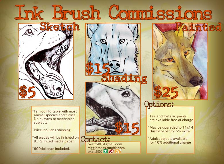Ink Brush Commissions by bkatt500