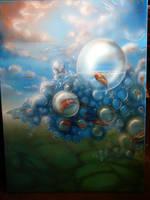 Sky bubbles: WIP_1 by ninykinin