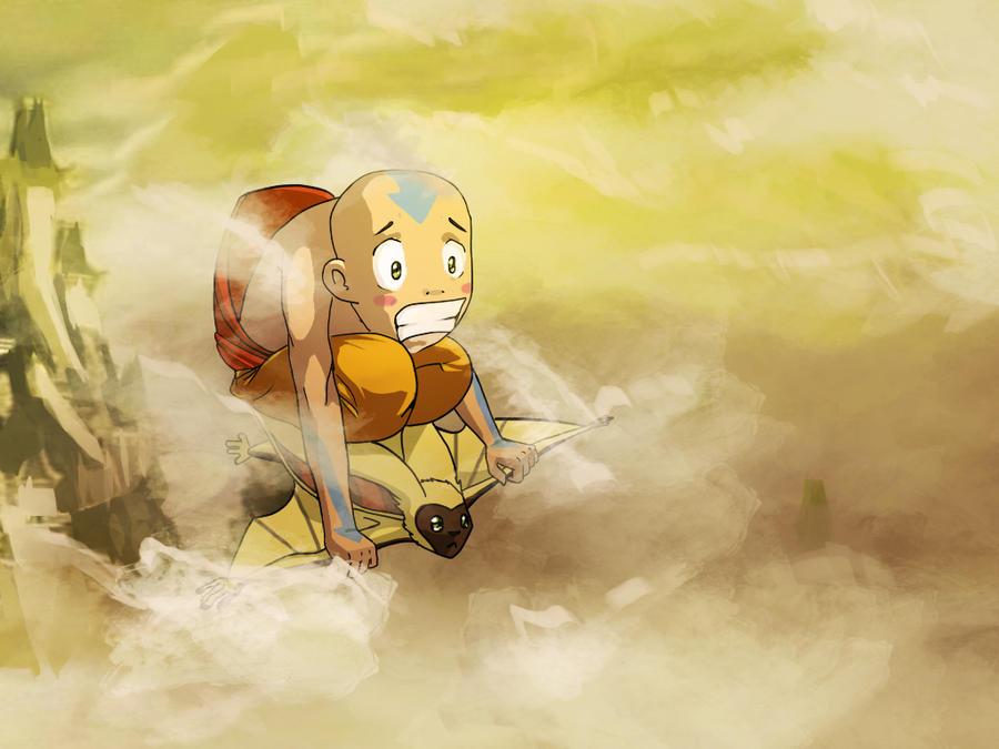 Aang and Momo: In Case of Emergency by ninykinin