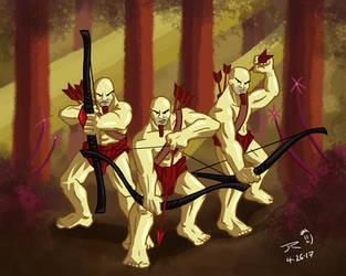 The Three Archers by JessyRuiz