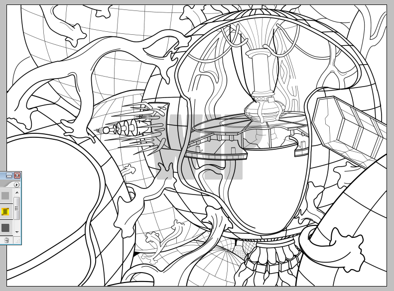 Updated wip tardis interior by lordrug on deviantart for Tardis coloring pages