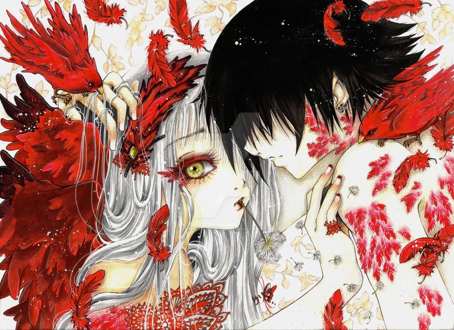 Crimson Sky-Tanpopo by yuriko-shirou