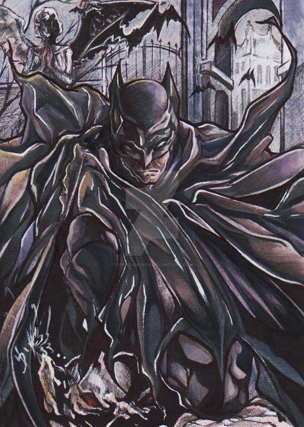 Sketch Card Batman by yuriko-shirou