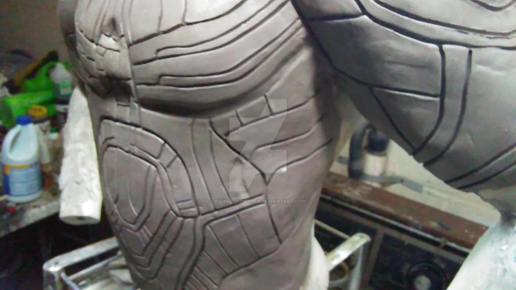 Falcon Armor Sculpt (Left Side-View)