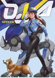 Dva Officer fan art by Azrail-GX