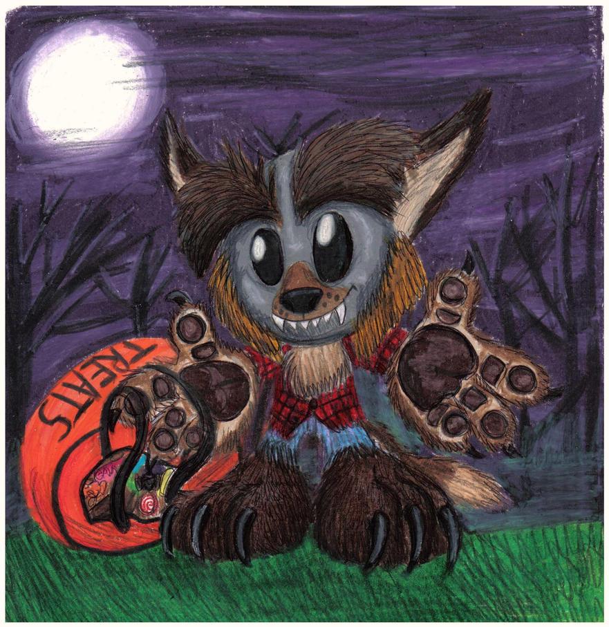 Fella Wolfy - Halloween 2009 by CrystalMarineGallery