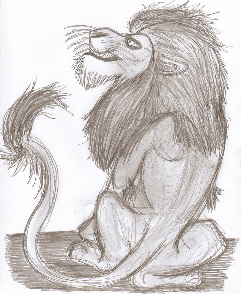 Rough Lion Sketch by CrystalMarine-Arts