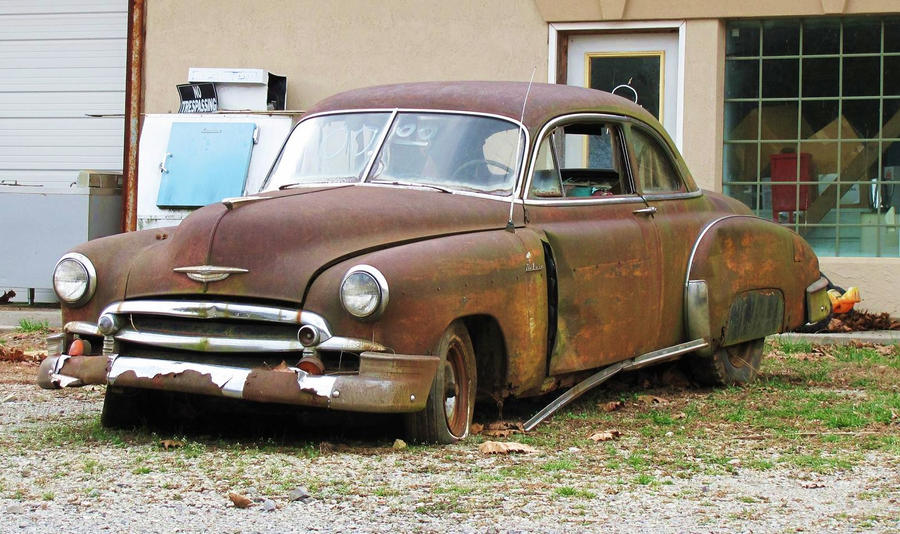 Rusty Car With a Sad Face by Crystal-Marine on DeviantArt