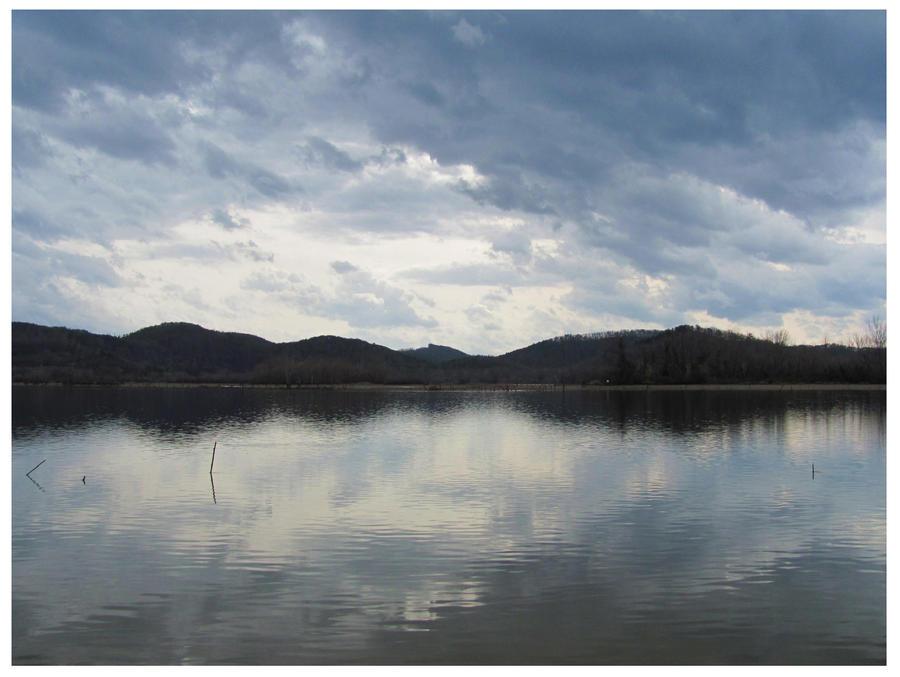 Stormy Skies - Tellico Lake - March 2 2012 by CrystalMarine-Arts