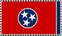 Tennessee Flag - Stamp by CrystalMarine-Arts