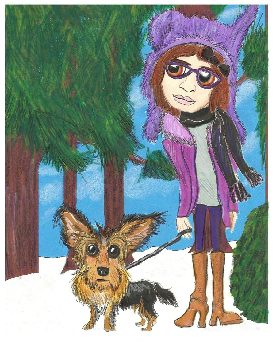 A girl and her Dog - For spiti84 by CrystalMarineGallery
