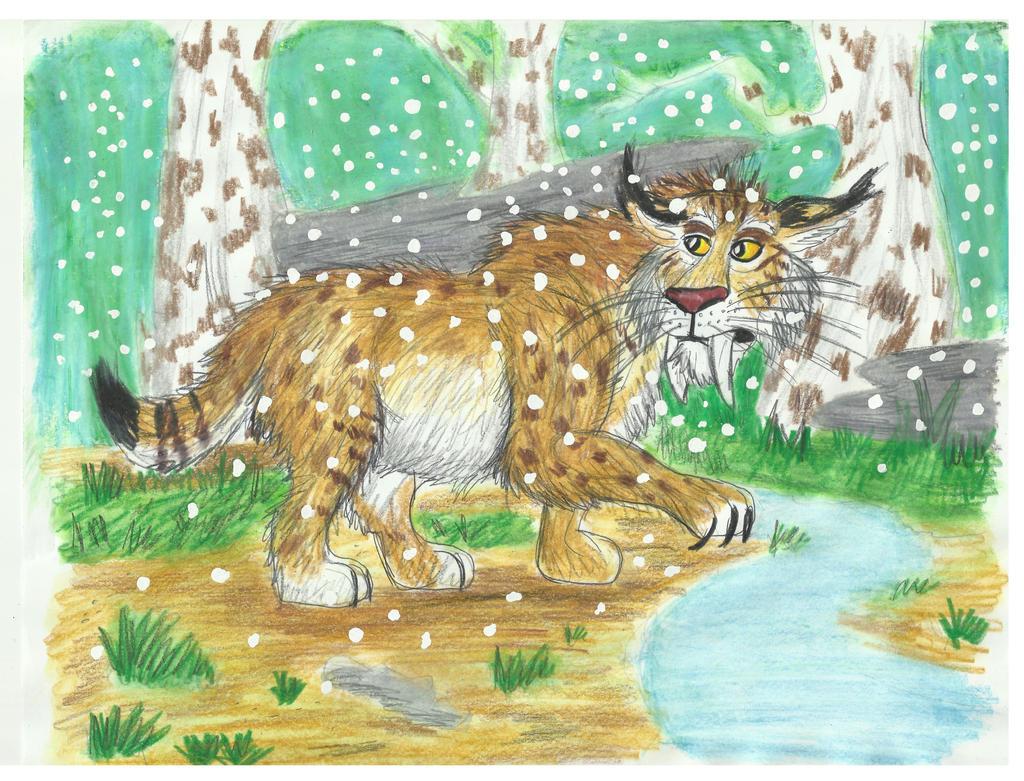 Sabertooth Cat by CrystalMarineGallery