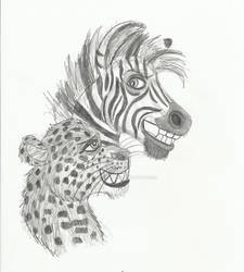 Leopard and Zebra pals - Just a couple of Animals