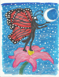 Butterfly Guy and moon