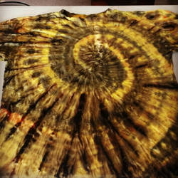 Black and Yellow Tie Dye