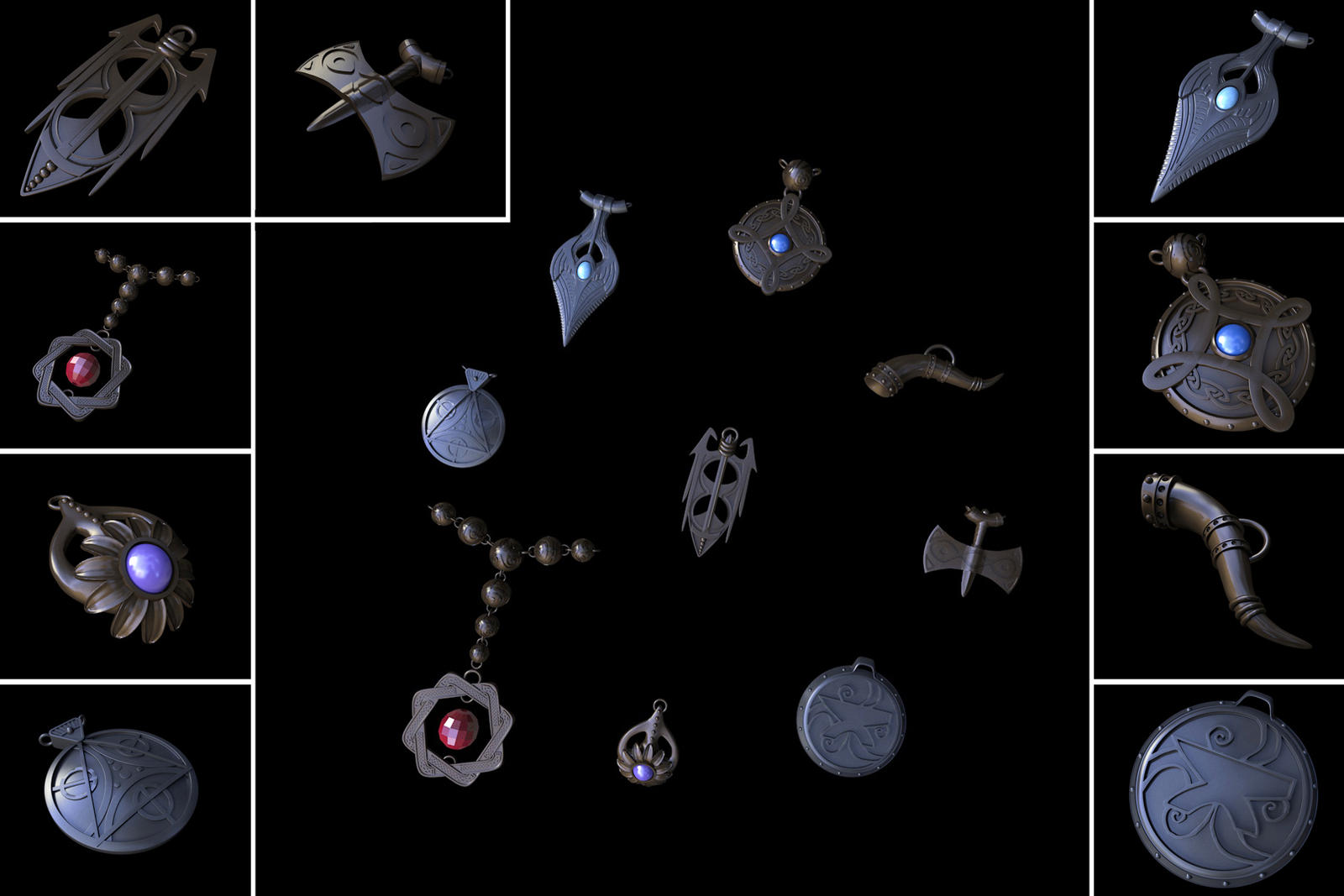 Amulets of the Divines - Render by PeregrineStudios