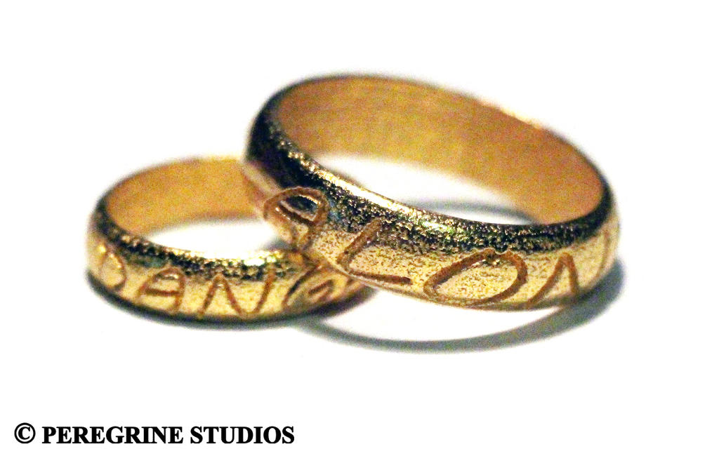 It's Dangerous To Go Alone - Valentine's Rings by PeregrineStudios ...