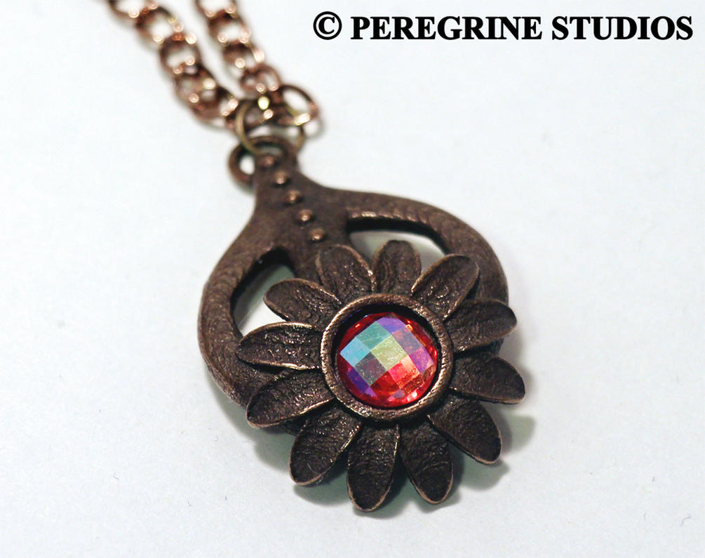 Amulet of Dibella (Stainless Steel with old gem) by PeregrineStudios