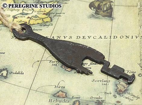 Antique Viking Key Recreation - Hand-Cast Pewter