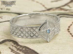 Silver Ring of Mara set with Aquamarine
