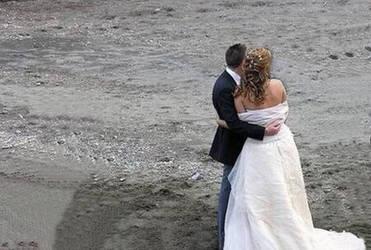 Wedding on Beach by cnewsome002