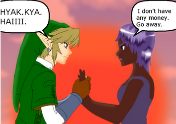 My OC and Link: No moneh