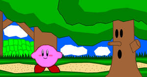 Kirby in Whispy's Woods by Silverfur15