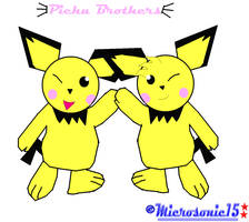 Pichu Brothers by Silverfur15