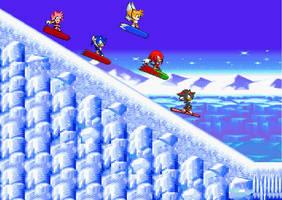 Snow Boarding by Silverfur15